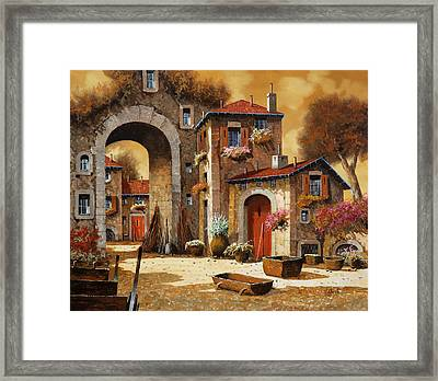Giallo Framed Print by Guido Borelli