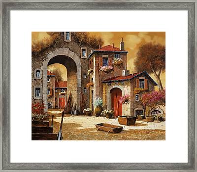 Giallo Framed Print by Guido Borelli