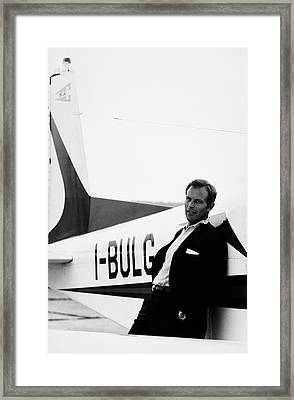Gianni Bulgari By His Airplane Framed Print
