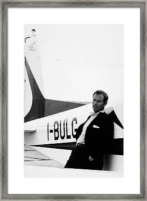 Gianni Bulgari By His Airplane Framed Print