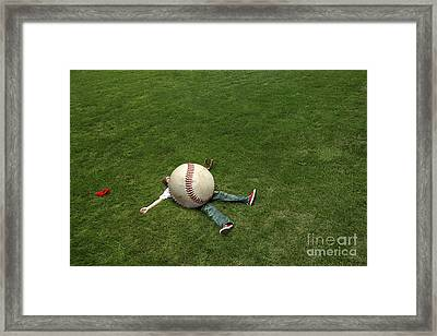 Giant Baseball Framed Print