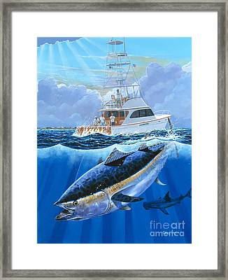 Giant Bluefin Off00130 Framed Print by Carey Chen