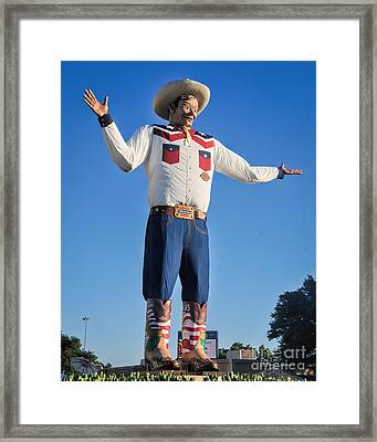 Giant Cowboy Big Tex State Fair Of Texas Framed Print