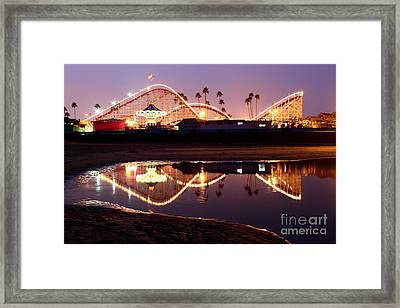 Giant Dipper At Dusk Framed Print by Theresa Ramos-DuVon
