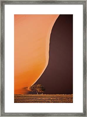 Giant Dunes Of Sossuvlei In Namibia Framed Print