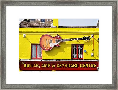 Giant Gibson Les Paul Framed Print
