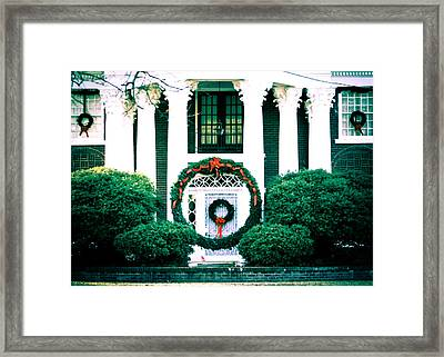Giant Green Wreath Framed Print by Audreen Gieger