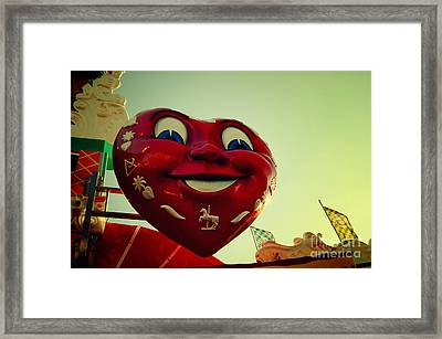 Giant Heart At The Octoberfest In Munich Framed Print