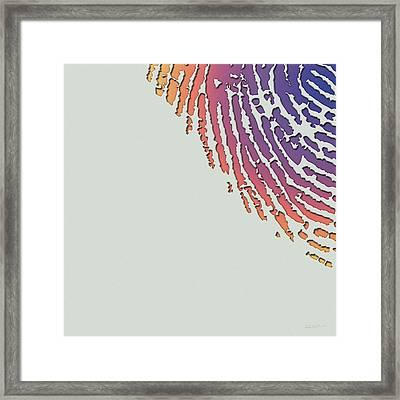 Giant Iridescent Fingerprint On Wickham Gray Set Of 4 - 3 Of 4 Framed Print