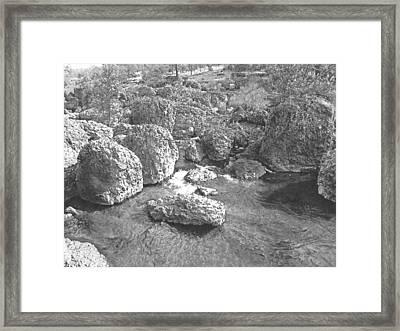 Giant Lava Boulders Framed Print