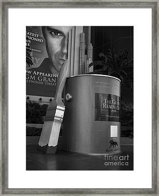 Giant Paint Bucket Las Vegas 2013 Framed Print by Edward Fielding