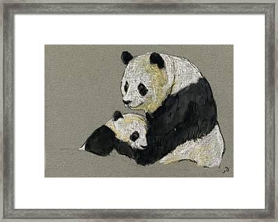 Giant Panda Framed Print by Juan  Bosco
