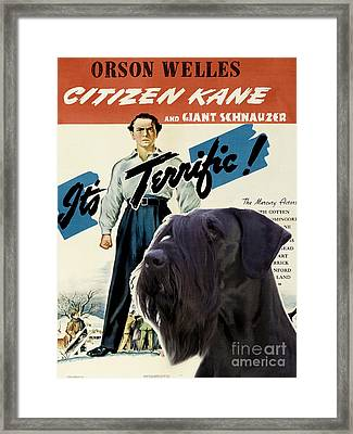 Giant Schnauzer Art Canvas Print - Citizen Kane Movie Poster Framed Print by Sandra Sij