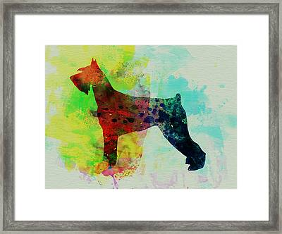 Giant Schnauzer Watercolor Framed Print by Naxart Studio