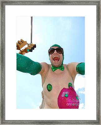 Framed Print featuring the photograph Giant Smile by Ed Weidman