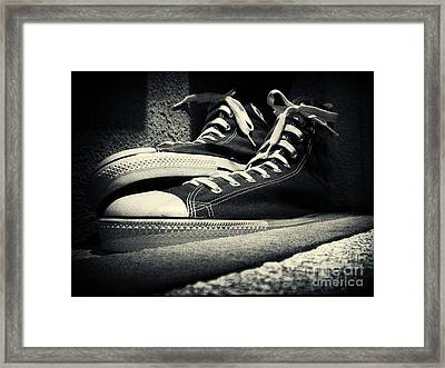 Giant Sneakers At Ripley's New York City Framed Print by Sabine Jacobs