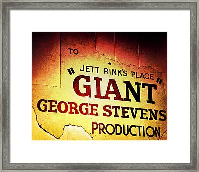 Giant Framed Print