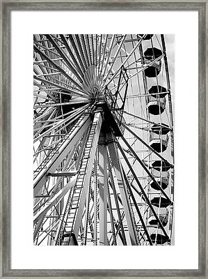Giant Wheel Framed Print by Mary Beth Landis