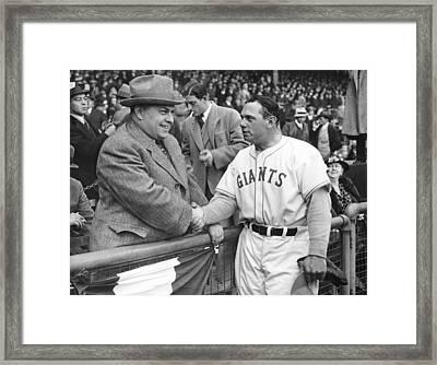 Giants Baseball Opening Day Framed Print