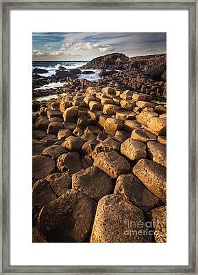 Giant's Causeway Bricks Framed Print by Inge Johnsson