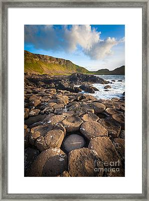 Giant's Causeway Circle Of Stones Framed Print