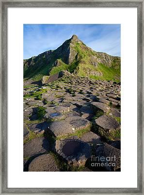 Giant's Causeway Green Peak Framed Print by Inge Johnsson