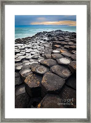 Giant's Causeway Hexagons Framed Print by Inge Johnsson