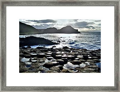 Giant's Causeway Sunset Framed Print