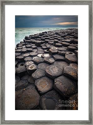 Giant's Causeway Pillars Framed Print by Inge Johnsson
