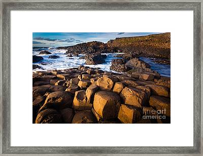 Giant's Causeway Surf Framed Print