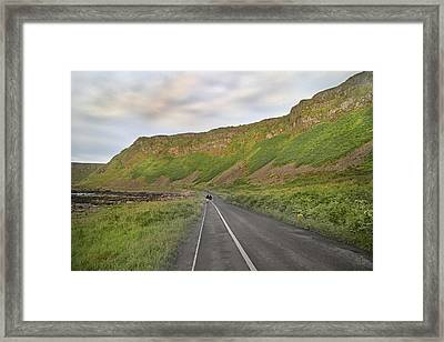 Giant's Causeway Walk The Line Framed Print