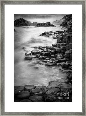 Giant's Causeway Waves  Framed Print