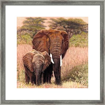 Giants Of Kenya Framed Print