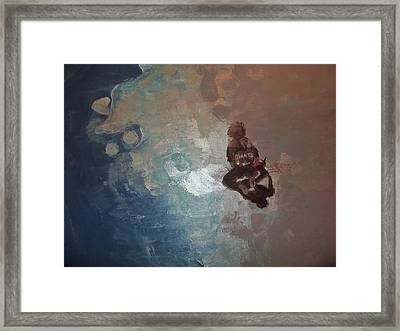 Giants...on The Shimmering Shore Framed Print by Jan Moore