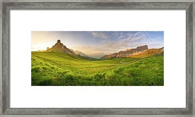 Giau Pass, Italy Framed Print by Chalermkiat Seedokmai
