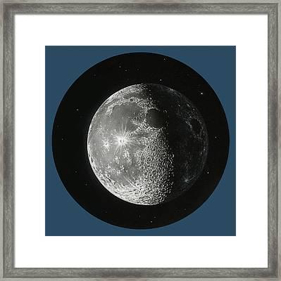 Gibbous Moon, Artwork Framed Print