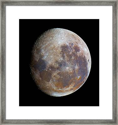 Gibbous Moon Framed Print by Luis Argerich