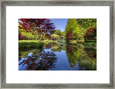 Gibbs Garden Framed Print by Debra and Dave Vanderlaan
