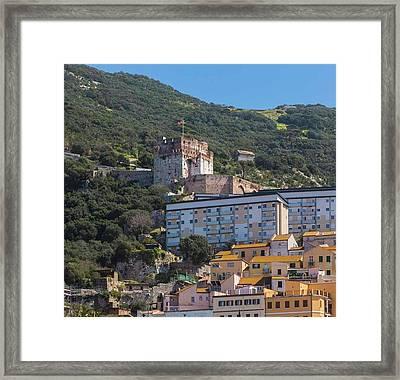 Gibraltar.  Moorish Castle Framed Print by Ken Welsh