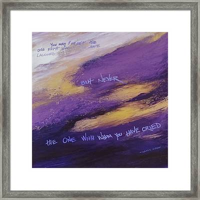 Gibran's But Never Poem Framed Print