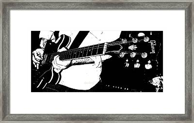 Gibson Guitar Graphic Framed Print by Chris Berry