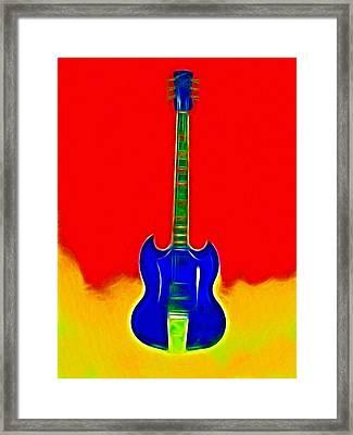 Gibson Guitare Framed Print by Steve K