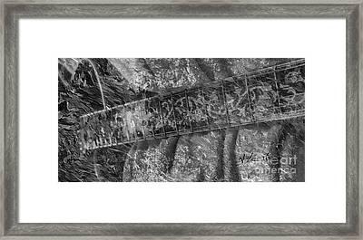 Gibson In Black And White Digital Guitar Art By Steven Langston Framed Print by Steven Lebron Langston