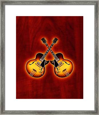 Gibson Jazz Framed Print