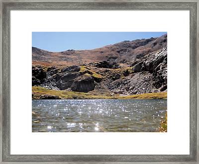 Gibson Lake Framed Print