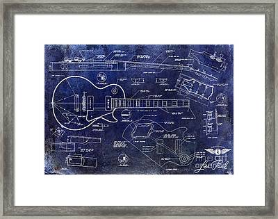 Gibson Les Paul Blueprint Framed Print