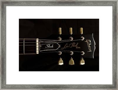 Gibson Les Paul Model Framed Print by Maj Seda