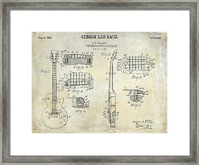 Gibson Les Paul Patent Drawing Framed Print