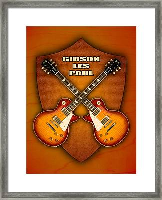Gibson Les Paul Standart  Shield Framed Print