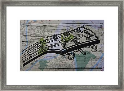 Gibson On Map Framed Print